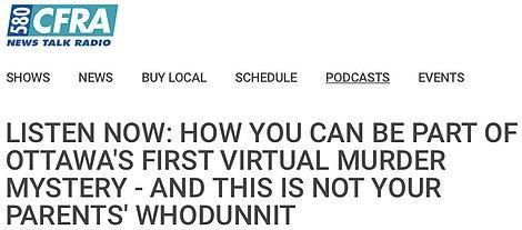 Online Virtual Murder Mystery